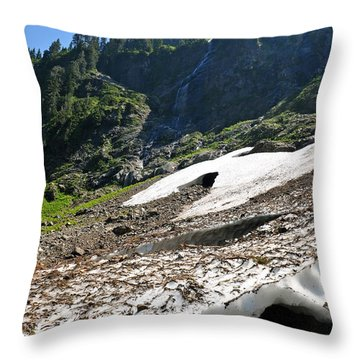 Throw Pillow featuring the photograph Final Snow Melt 22 by Rebecca Parker