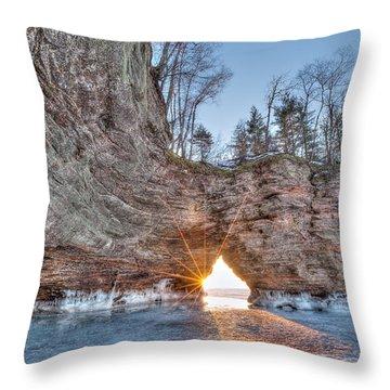 Final Sunset, Apostle Islands Throw Pillow