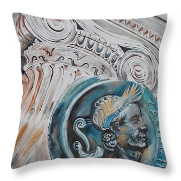 Throw Pillow featuring the painting Financial Cliff by PainterArtist FIN