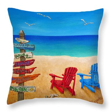 Finding Paradise Throw Pillow by Pamela Allegretto