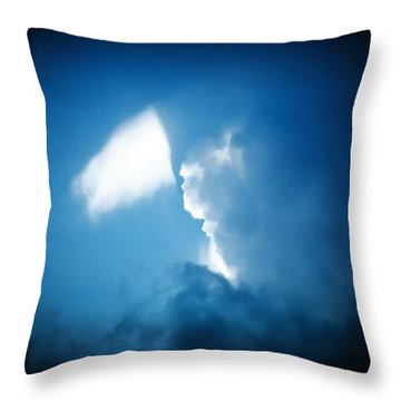 Finding A Special Cloud Throw Pillow