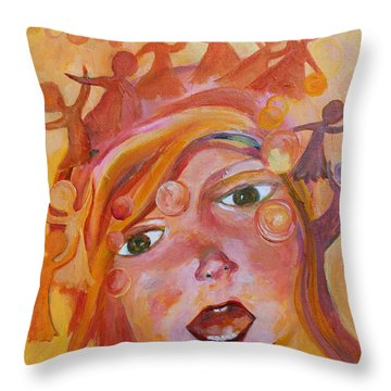Finding A Voice Throw Pillow by Naomi Gerrard