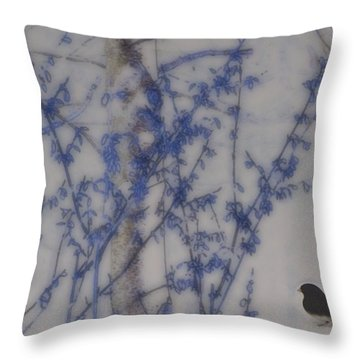 Finding His Way Throw Pillow by Barbara S Nickerson