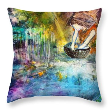 Finding Moses Throw Pillow