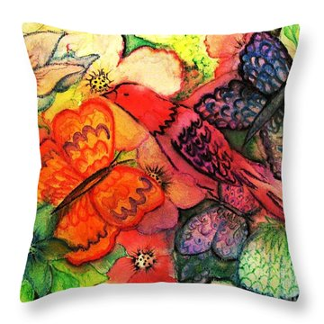 Throw Pillow featuring the painting Finding Sanctuary by Hazel Holland