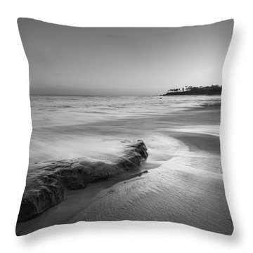 Finding Serenity Bw Throw Pillow by Michael Ver Sprill