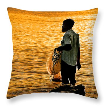 Finding Supper Throw Pillow