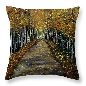 Finding The Place Throw Pillow