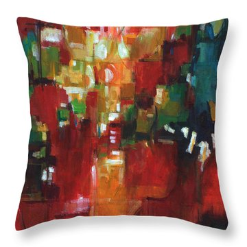 Throw Pillow featuring the painting Finding The Way by Becky Kim