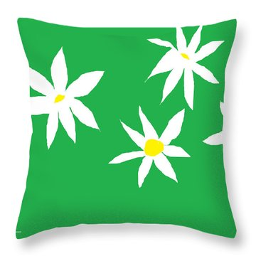 Fine Day Green Throw Pillow