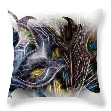 Fine Feathered Fantasy Throw Pillow by Cindy Nunn