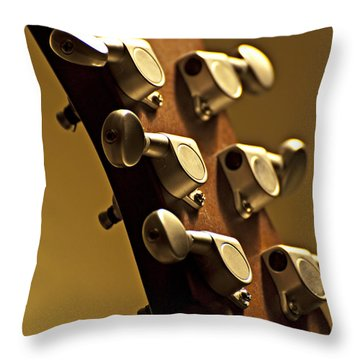 Finely Tuned Throw Pillow by Christopher Gaston