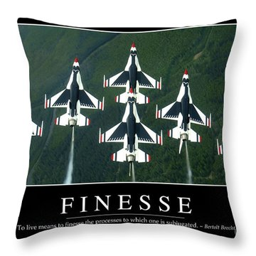 Finesse Inspirational Quote Throw Pillow by Stocktrek Images