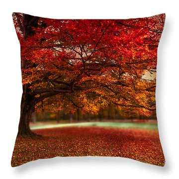 Finest Fall Throw Pillow by Hannes Cmarits