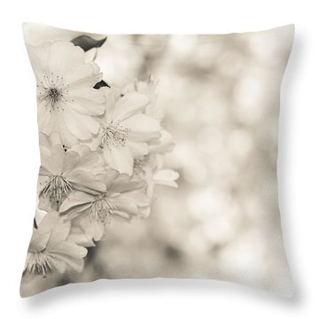 Finest Spring Time - Bw Throw Pillow by Hannes Cmarits