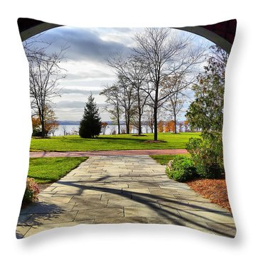 Finger Lakes View From Mackenzie Childs  Throw Pillow