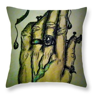 Fingernails Throw Pillow