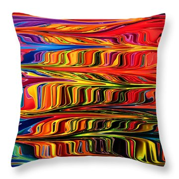 Throw Pillow featuring the digital art Fingerpaint by Mary Bedy