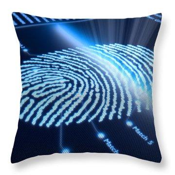 Modern Scanning Technology Throw Pillow