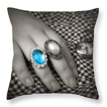 Fingers Throw Pillow by Rachel Mirror