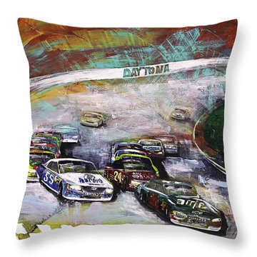 Finish Line Throw Pillow by Gray  Artus