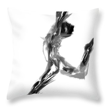 Finish Line Throw Pillow by Rafael Salazar