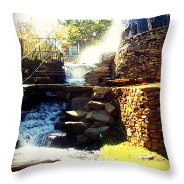 Finlay Park Fountain Throw Pillow