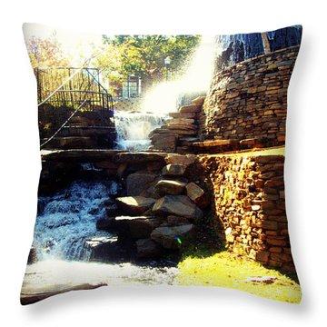 Finlay Park Fountain Throw Pillow
