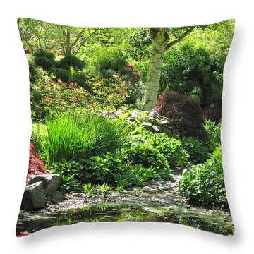 Finnerty Gardens Pond Throw Pillow