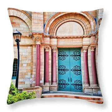 Finney Chapel Oberlin College Throw Pillow
