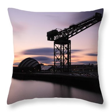 Finnieston Crane Glasgow  Throw Pillow by Grant Glendinning