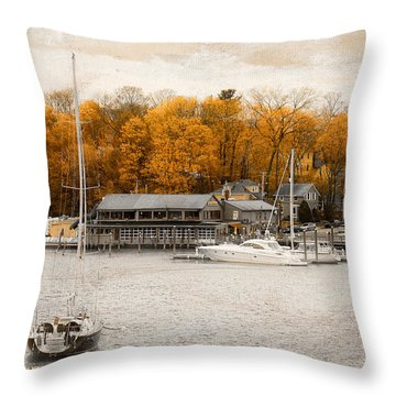 Finn's Harborside East Greenwich Rhode Island Throw Pillow