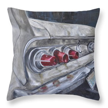 Fins Throw Pillow by Lindsay Frost
