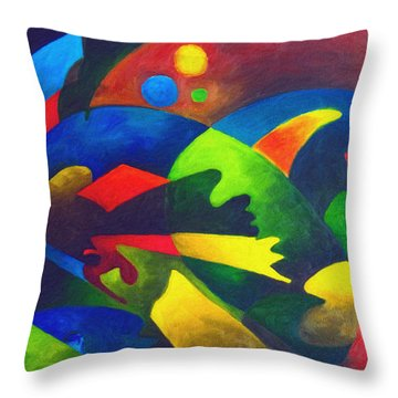 Fins Throw Pillow