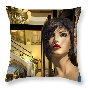 Fiona Arrives In Prague Throw Pillow
