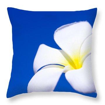 Fiore Nel Cielo - The Blue Dream Of Sky Throw Pillow by Sharon Mau