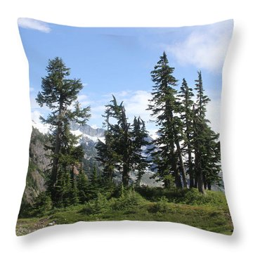 Throw Pillow featuring the photograph Fir Trees At Mount Baker by Tom Janca