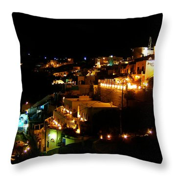 Firastefani Night Throw Pillow