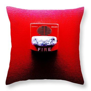 Fire Alarm Strobe Throw Pillow