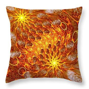 Fire And Flames Throw Pillow by Anastasiya Malakhova