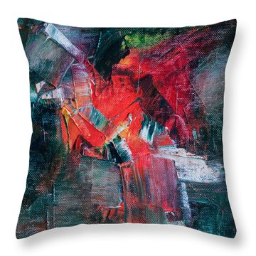 Fire And Ice Throw Pillow by Lee Beuther