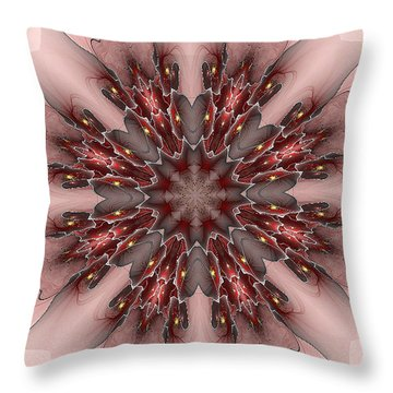 Fire And Ice Love Throw Pillow