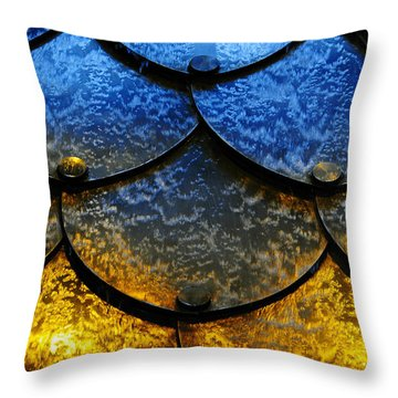 Throw Pillow featuring the photograph Fire And Ice by Skip Hunt