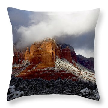 Throw Pillow featuring the photograph Fire And Ice by Tom Kelly