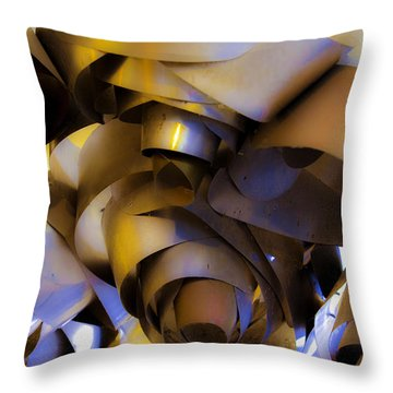 Fire And Steel Throw Pillow