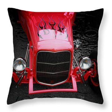 Classic Cars Throw Pillow featuring the photograph Fire And Water by Aaron Berg