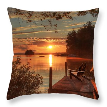 Fire And Water Throw Pillow by Lori Deiter
