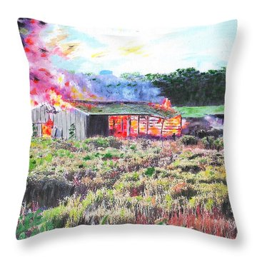 Fire At Whitney Beef Throw Pillow
