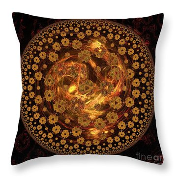 Fire Ball Filigree  Throw Pillow by Elizabeth McTaggart
