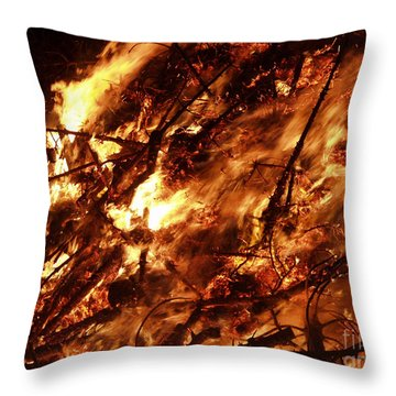 Fire Blaze Throw Pillow